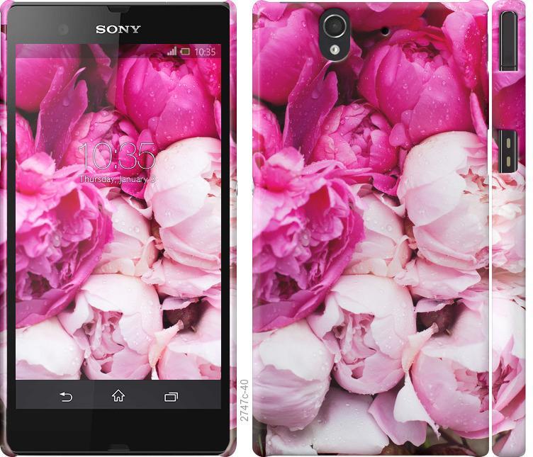 Чохол на Sony Xperia Z C6602 Рожеві півонії