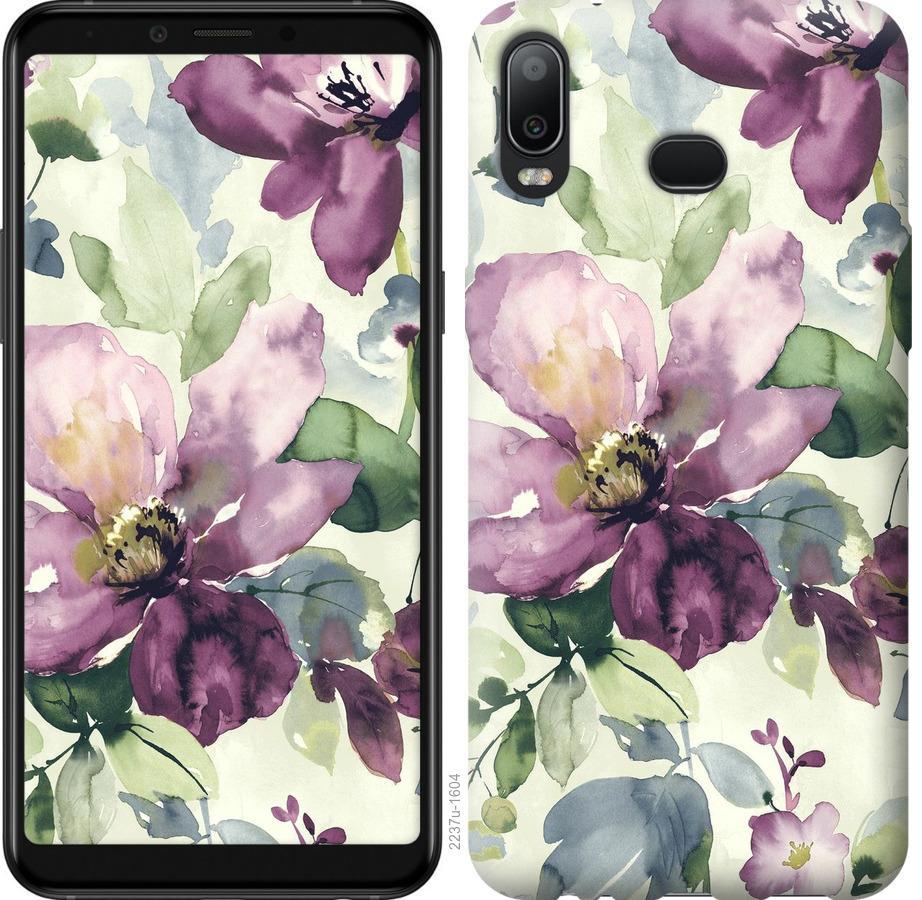 Чехол на Samsung Galaxy A6s Цветы акварелью