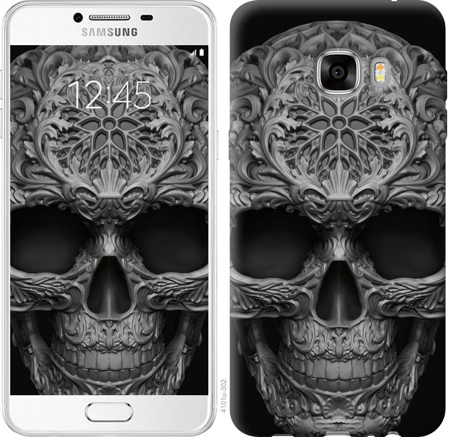 Чехол на Samsung Galaxy C7 C7000 skull-ornament
