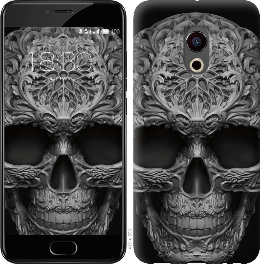 Чехол на Meizu Pro 6 skull-ornament