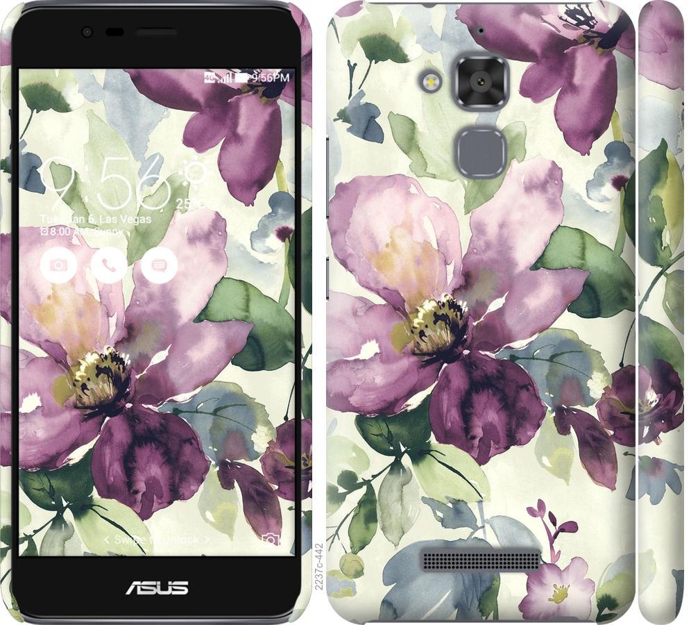 Чохол на Asus Zenfone 3 Max ZC520TL Квіти аквареллю
