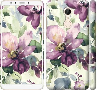 Чехол на Xiaomi Redmi 5 Цветы акварелью