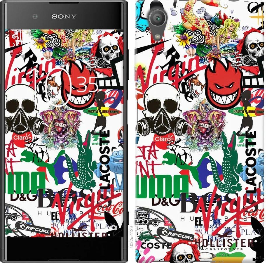Чехол на Sony Xperia XA1 Plus G3412 Many different logos