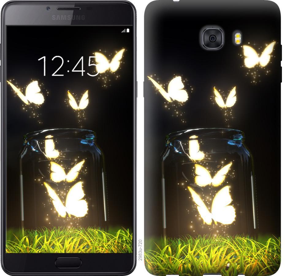 Чехол на Samsung Galaxy C9 Pro Бабочки