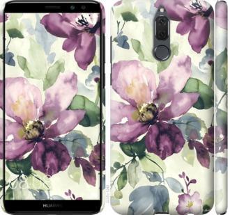 Чехол на Huawei Mate 10 Lite Цветы акварелью