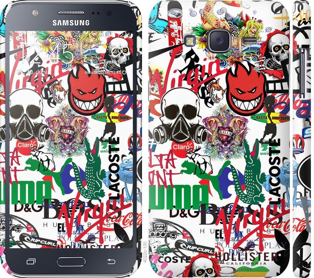 Чехол на Samsung Galaxy J5 (2015) J500H Many different logos