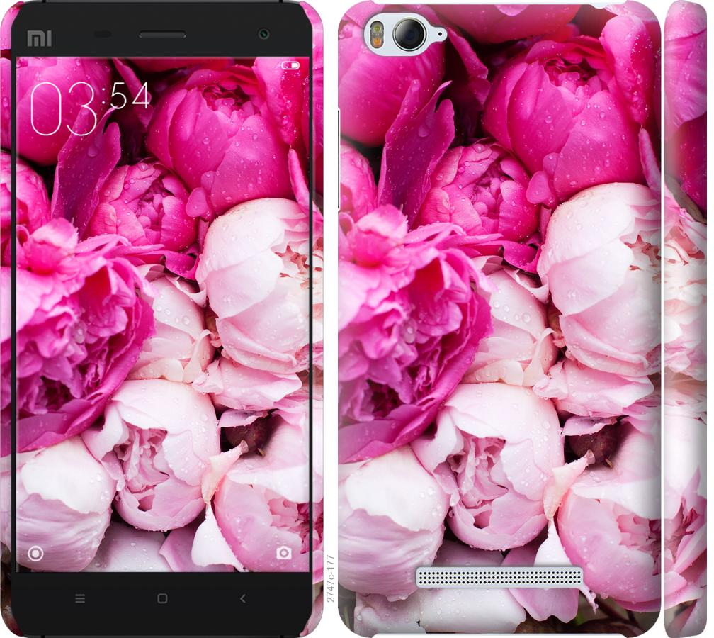 Чехол на Xiaomi Mi4i Розовые пионы