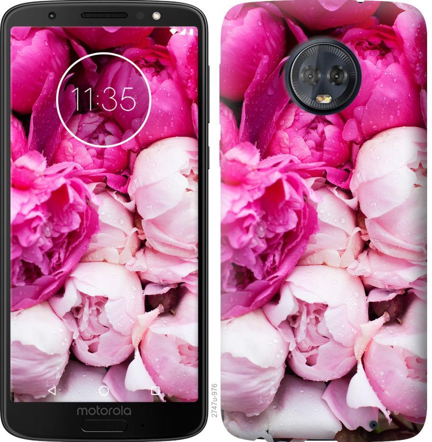 Чехол на Motorola Moto G6 Plus Розовые пионы