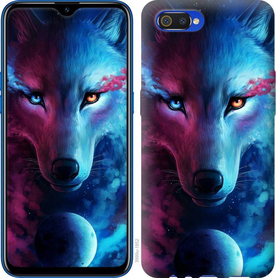 Чехол на Realme C2 Арт-волк