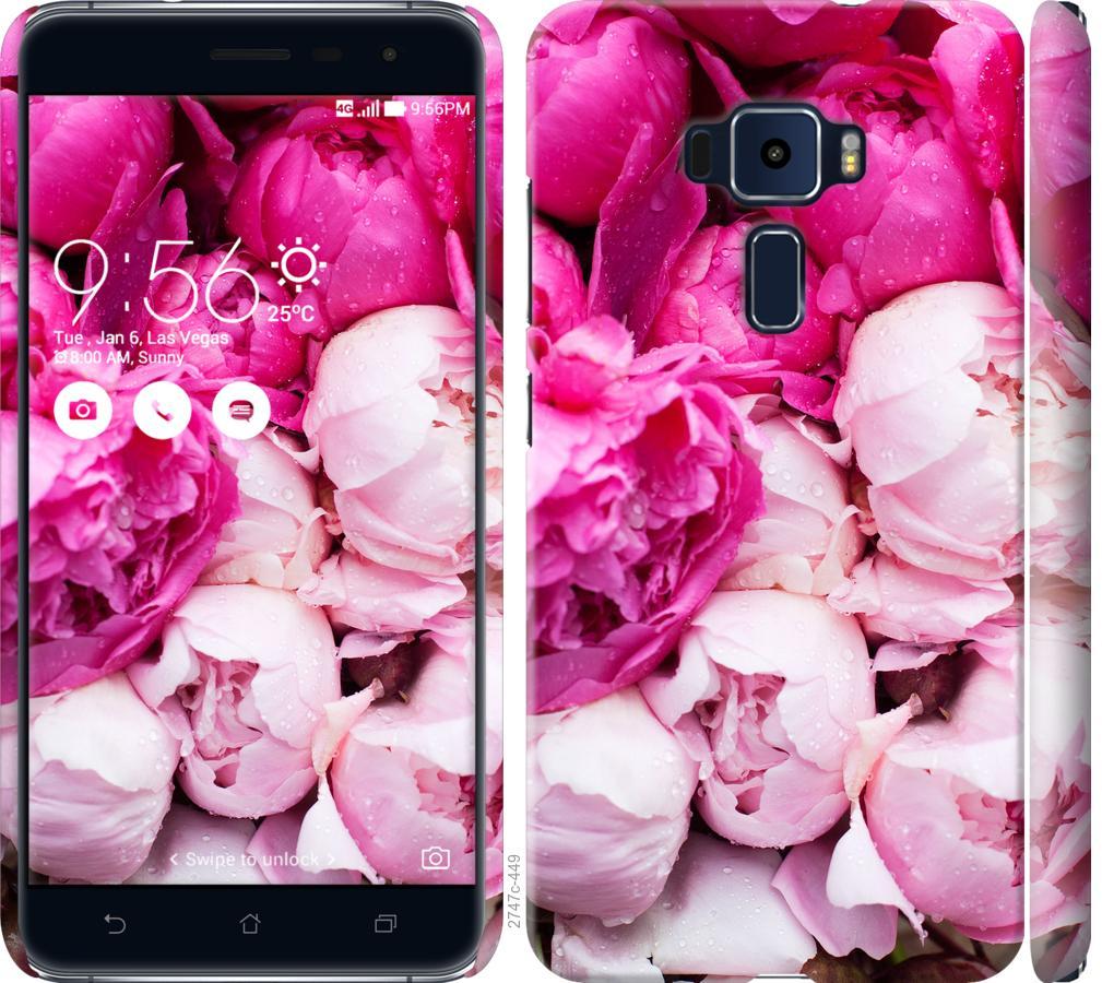 Чехол на Asus Zenfone 3 ZE520KL Розовые пионы