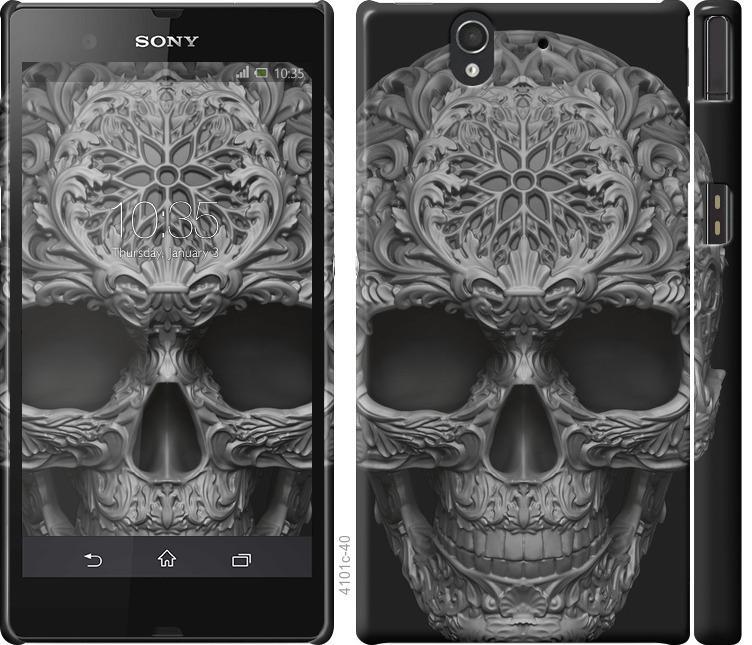 Чохол на Sony Xperia Z C6602 skull-ornament