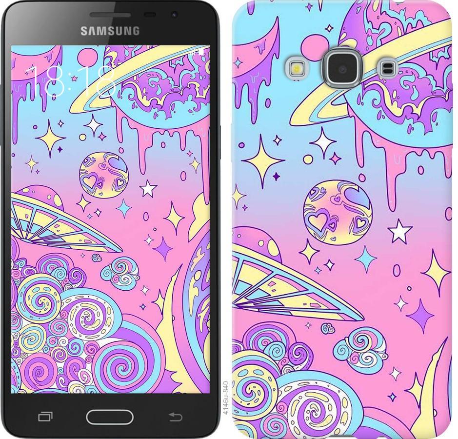 Чехол на Samsung Galaxy J3 Pro Розовая галактика