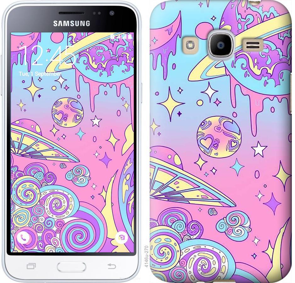 Чехол на Samsung Galaxy J2 (2016) J210 Розовая галактика