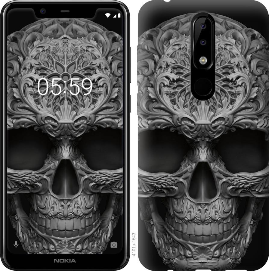 Чехол на Nokia 5.1 Plus skull-ornament