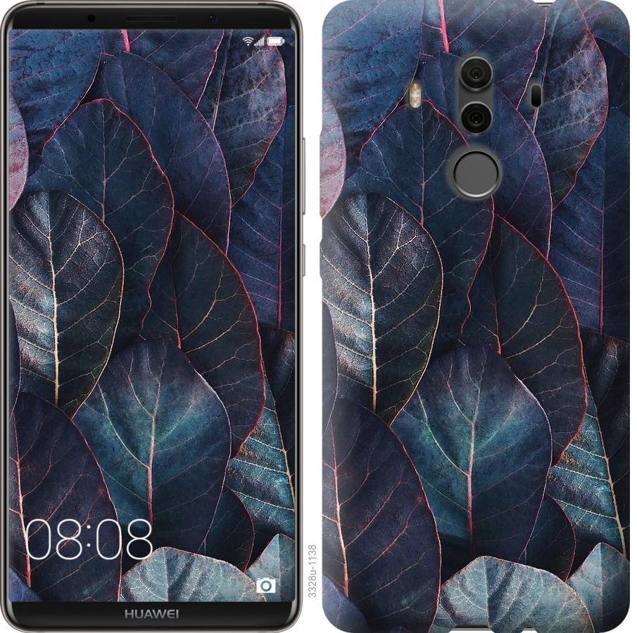 Чехол на Huawei Mate 10 Pro Листья v3