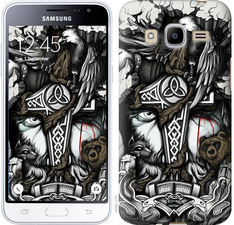 Чехол на Samsung Galaxy J2 (2016) J210 Тату Викинг