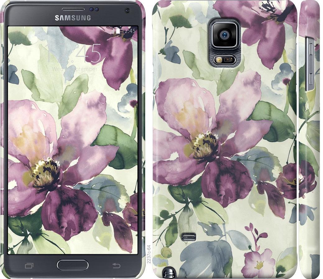 Чехол на Samsung Galaxy Note 4 N910H Цветы акварелью