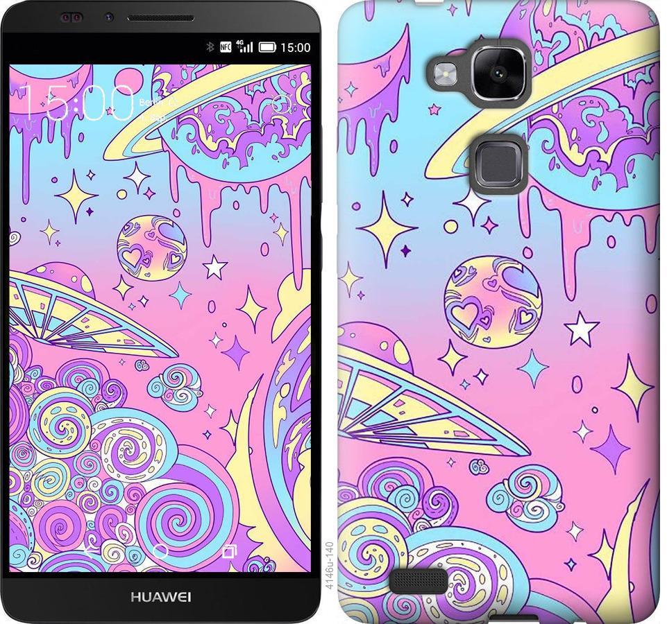 Чехол на Huawei Ascend Mate 7 Розовая галактика