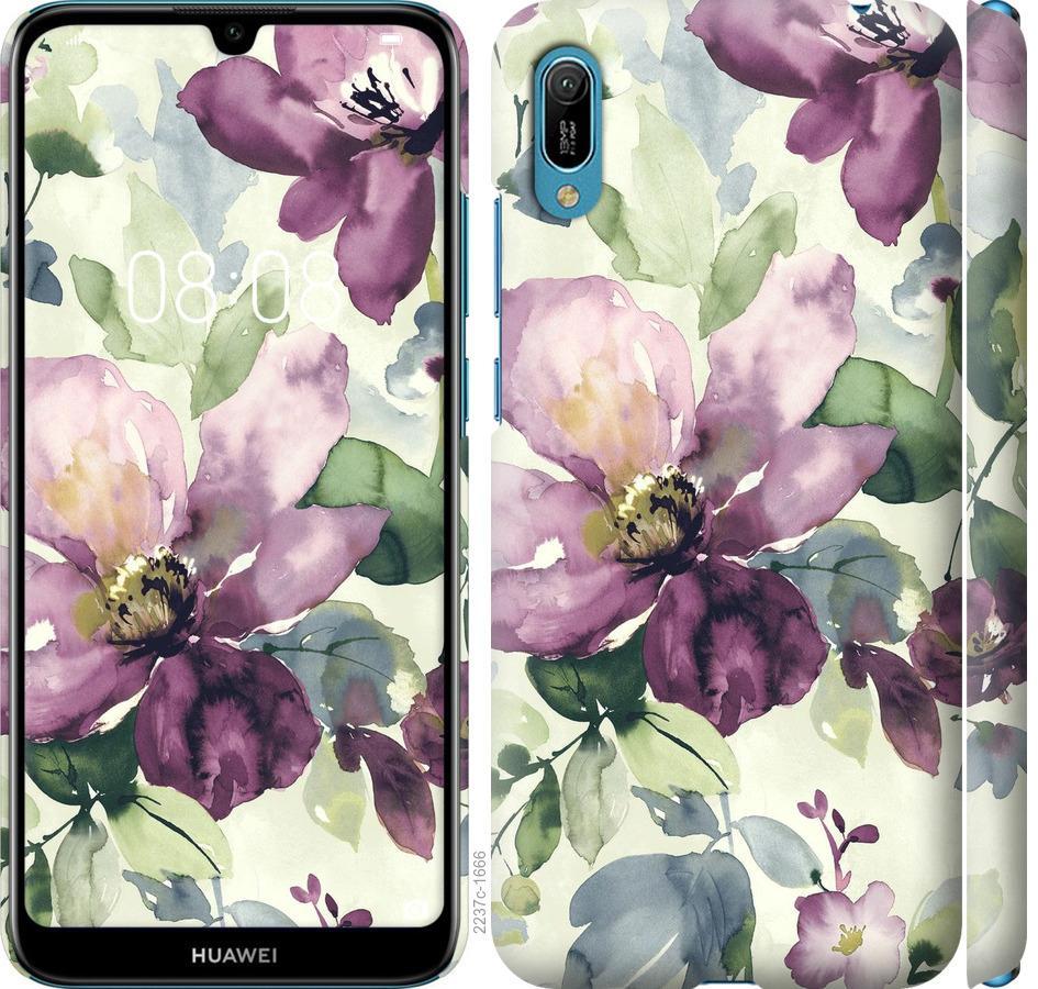 Чехол на Huawei Y6 2019 Цветы акварелью