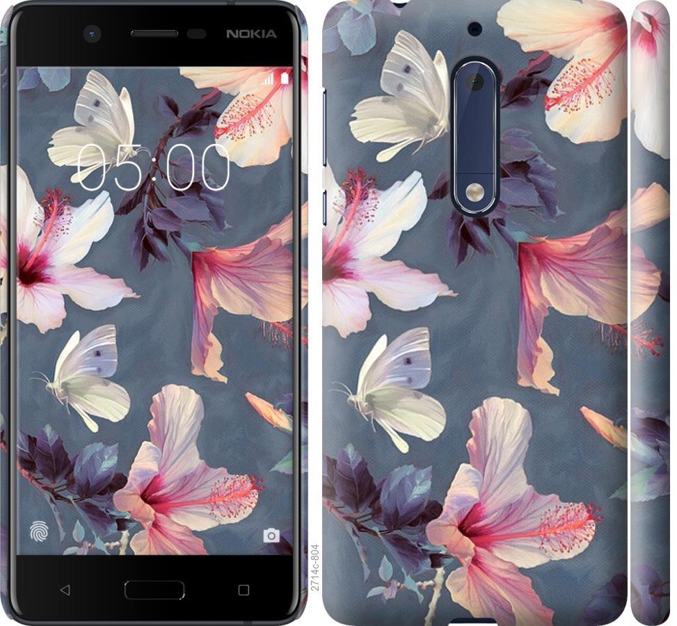 Чехол на Nokia 5 Нарисованные цветы
