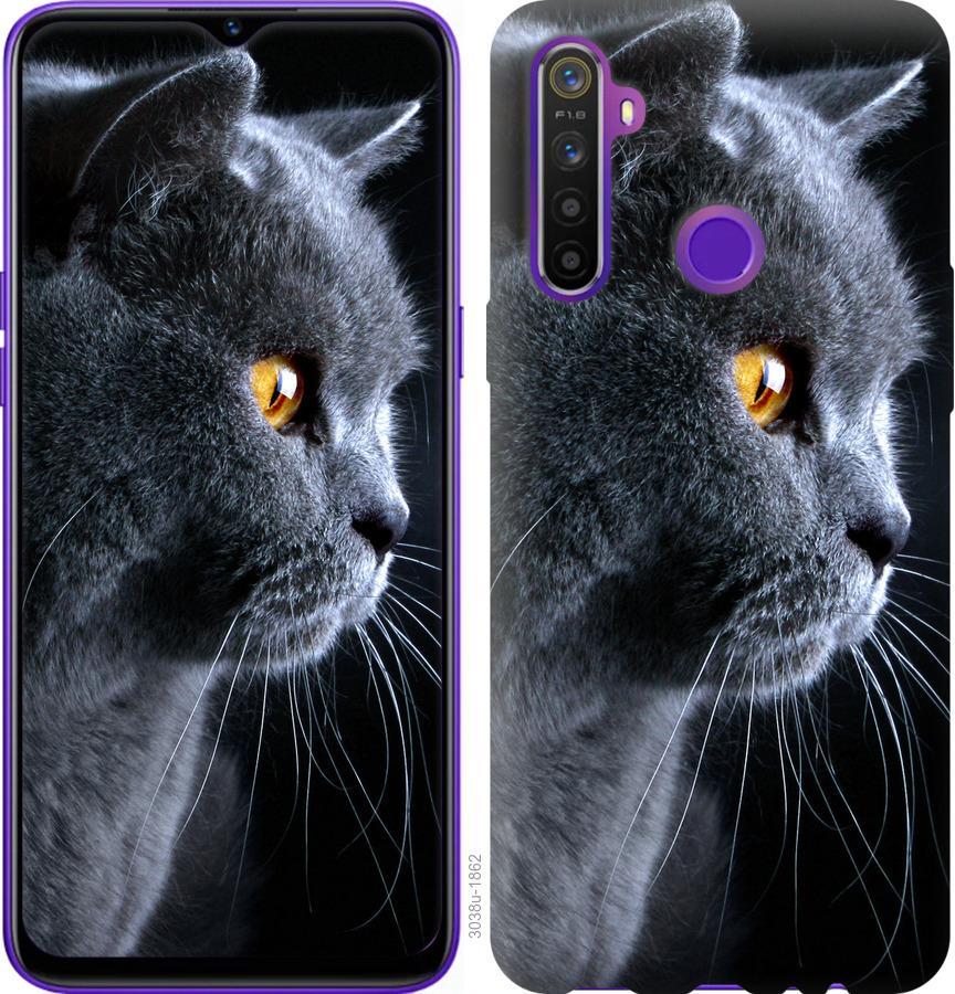 Чехол на Realme 5 Красивый кот