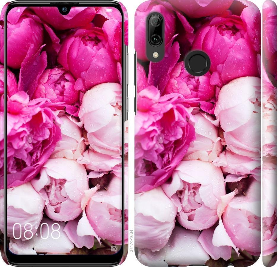 Чехол на Huawei P Smart 2019 Розовые пионы