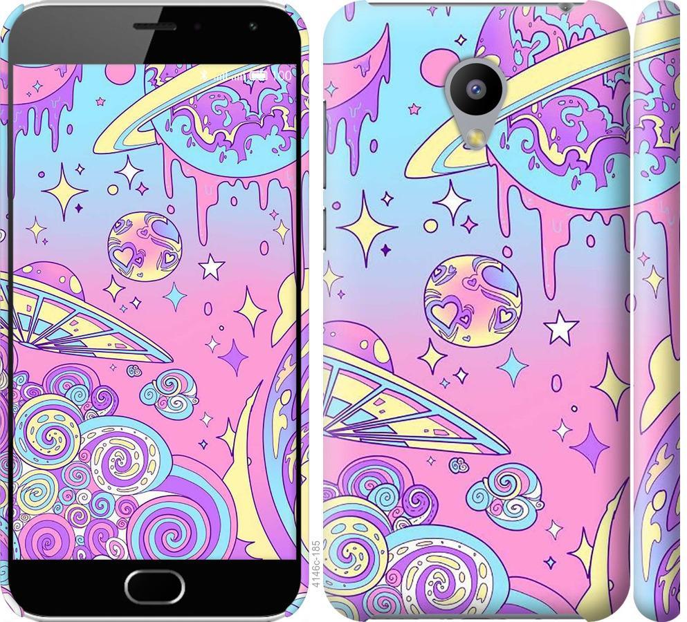 Чехол на Meizu M2 Розовая галактика