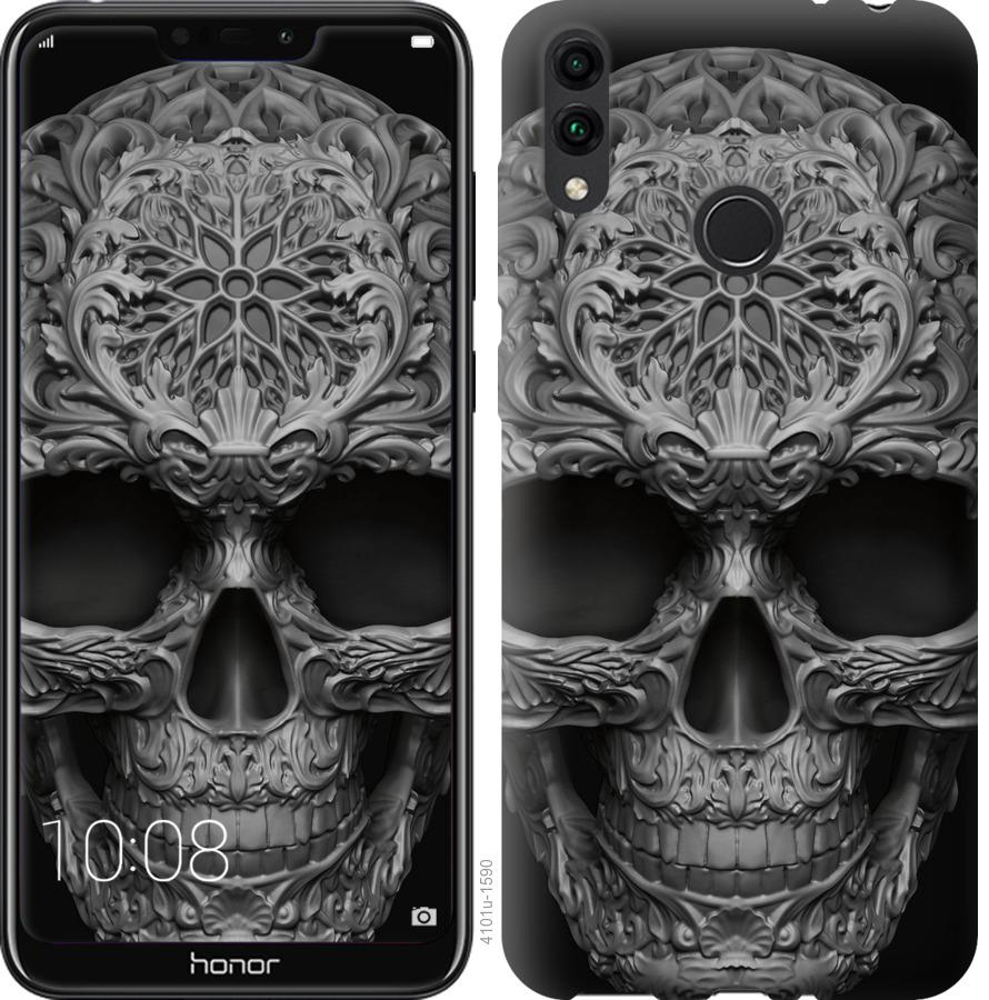 Чехол на Huawei Honor 8C skull-ornament
