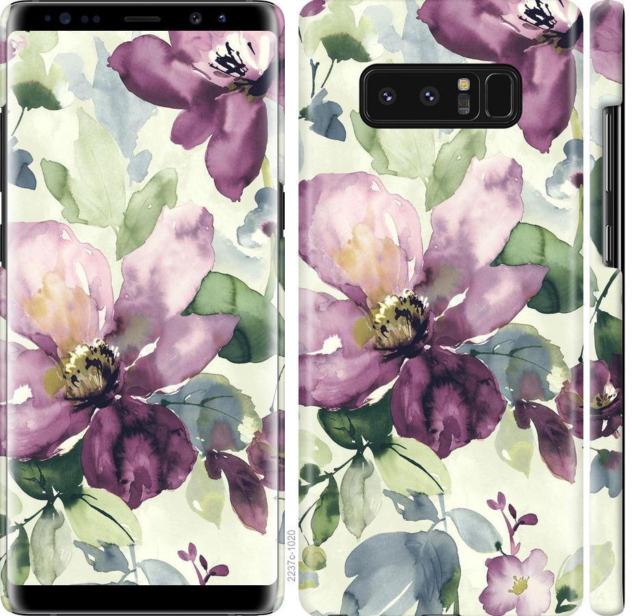 Чехол на Samsung Galaxy Note 8 Цветы акварелью