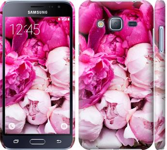 Чехол на Samsung Galaxy J3 Duos (2016) J320H Розовые пионы