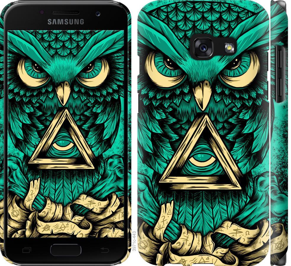 Чехол на Samsung Galaxy A3 (2017) Сова Арт-тату