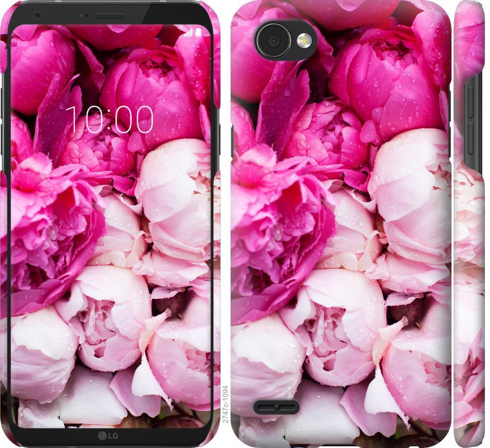Чехол на LG Q6 Розовые пионы