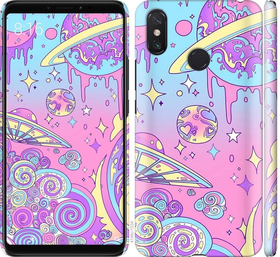 Чехол на Xiaomi Mi Max 3 Розовая галактика