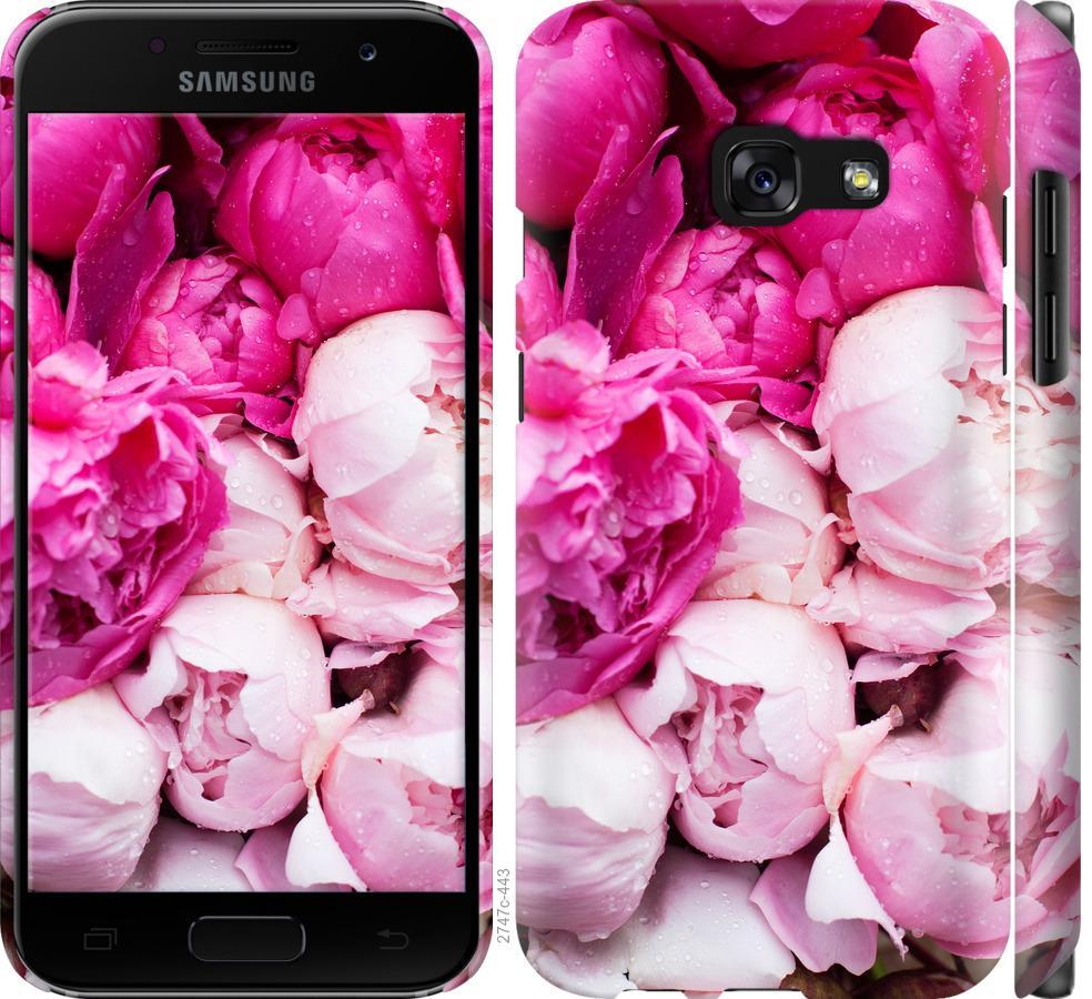 Чехол на Samsung Galaxy A3 (2017) Розовые пионы
