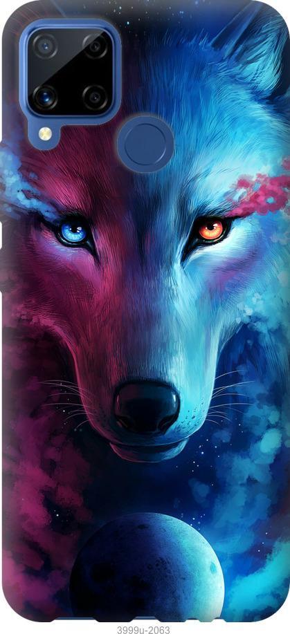 Чехол на Realme C15 Арт-волк