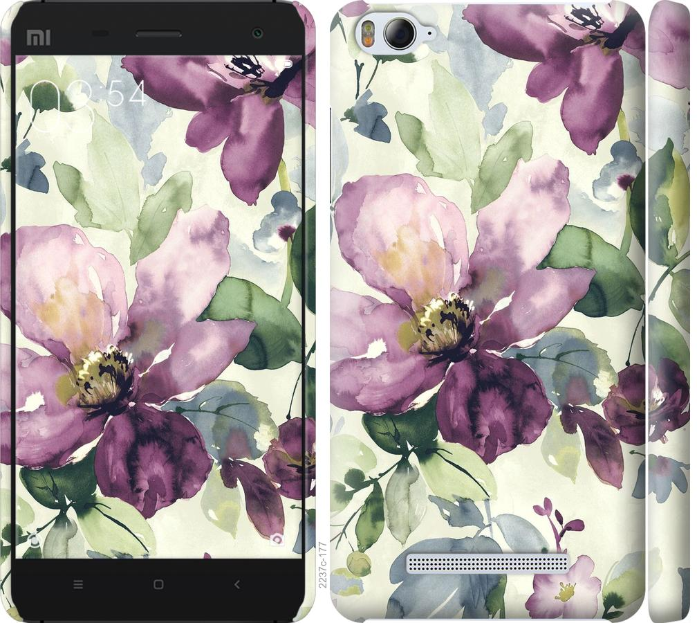 Чехол на Xiaomi Mi4i Цветы акварелью