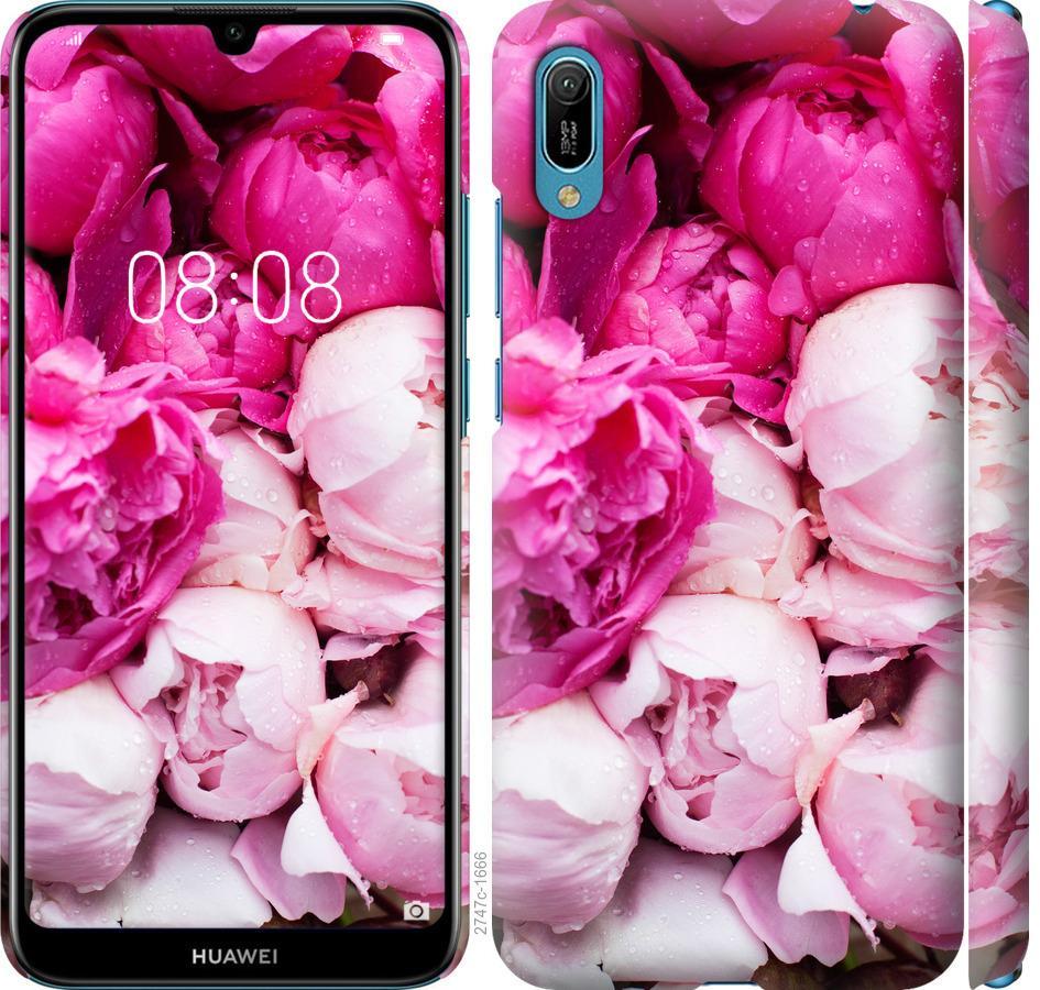 Чохол на Huawei Y6 2019 Рожеві півонії