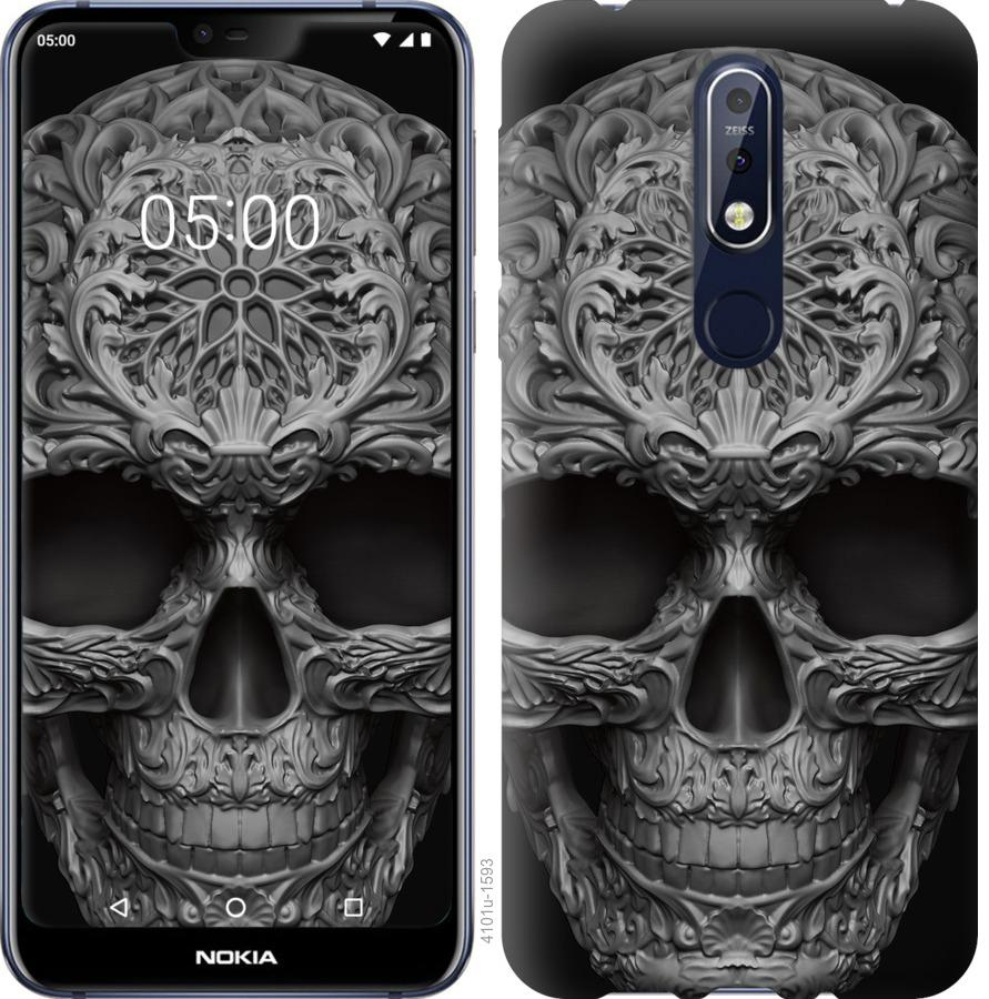Чехол на Nokia 7.1 skull-ornament