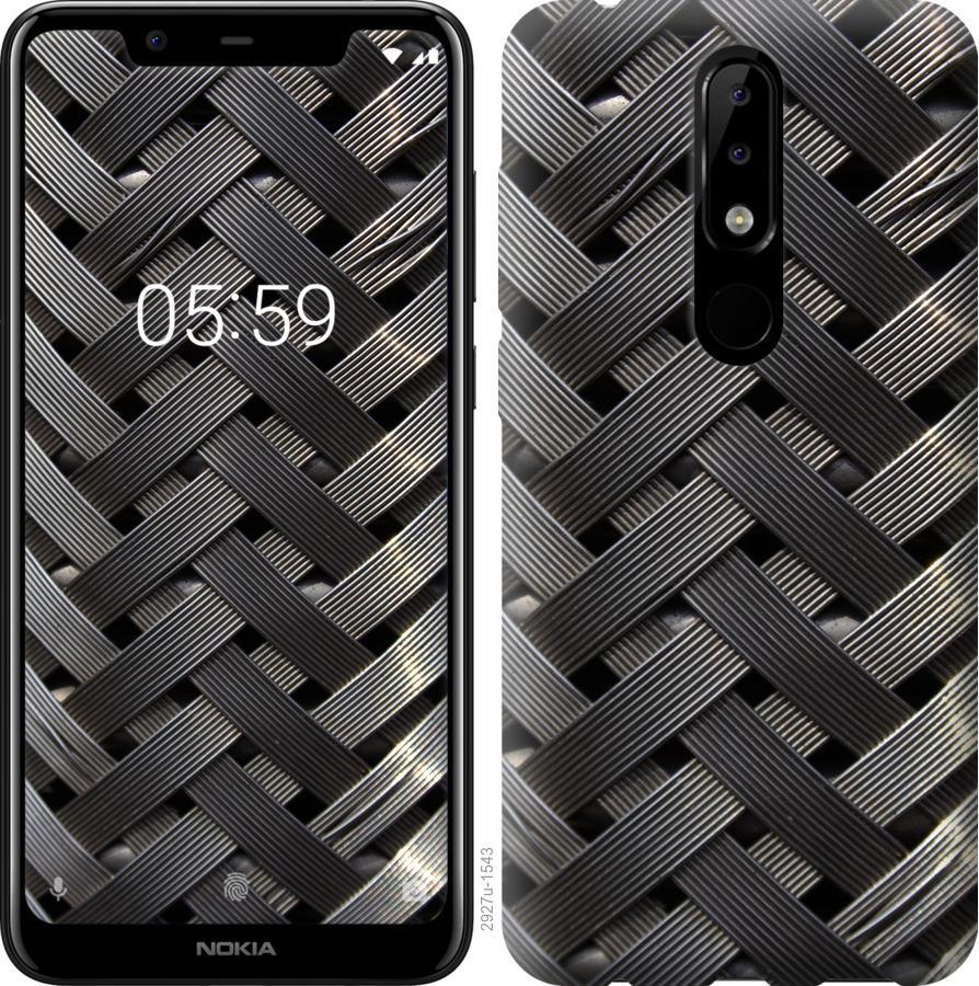 Чехол на Nokia 5.1 Plus Металлические фоны