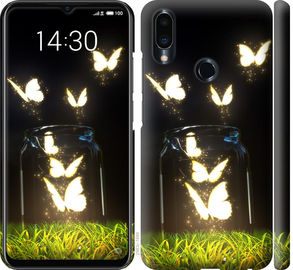 Чехол на Meizu Note 9 Бабочки