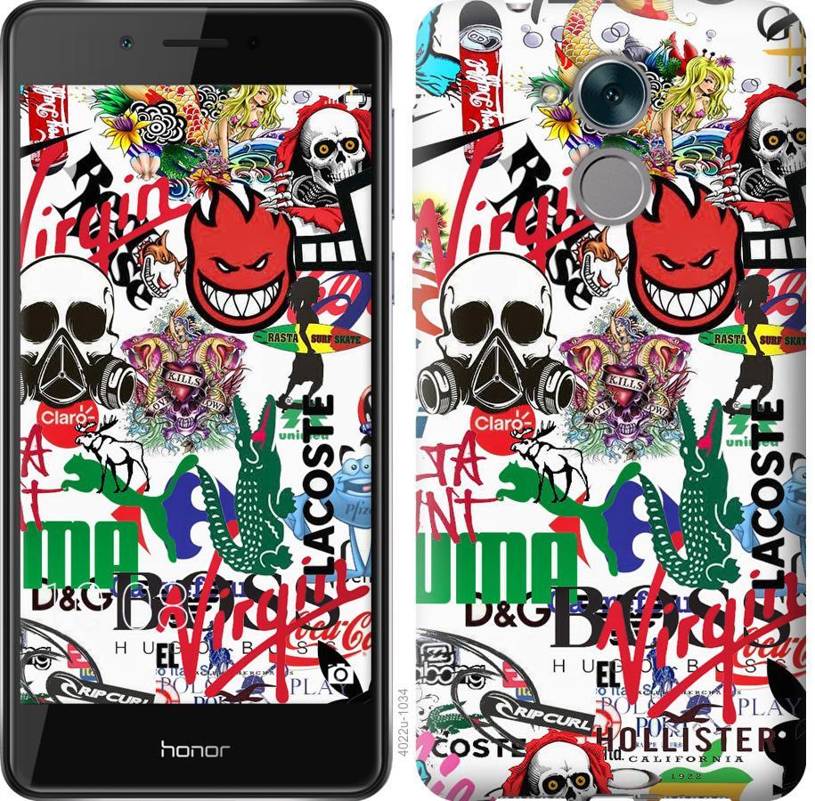 Чехол на Huawei Enjoy 6s Many different logos
