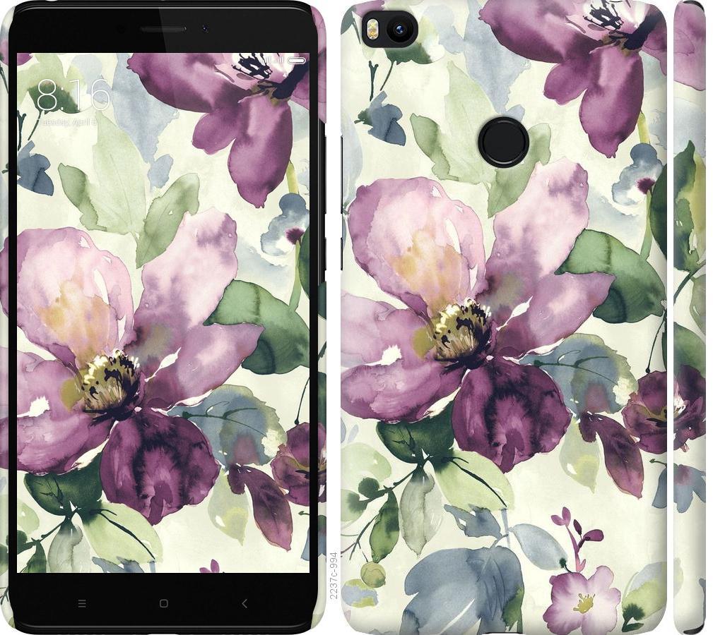 Чехол на Xiaomi Mi Max 2 Цветы акварелью