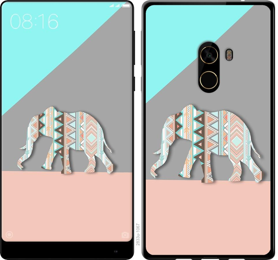 Чехол на Xiaomi Mi MiX 2 Узорчатый слон