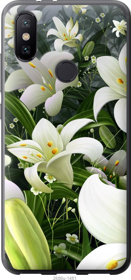 Чехол на Xiaomi Mi Mix 3 Белые лилии