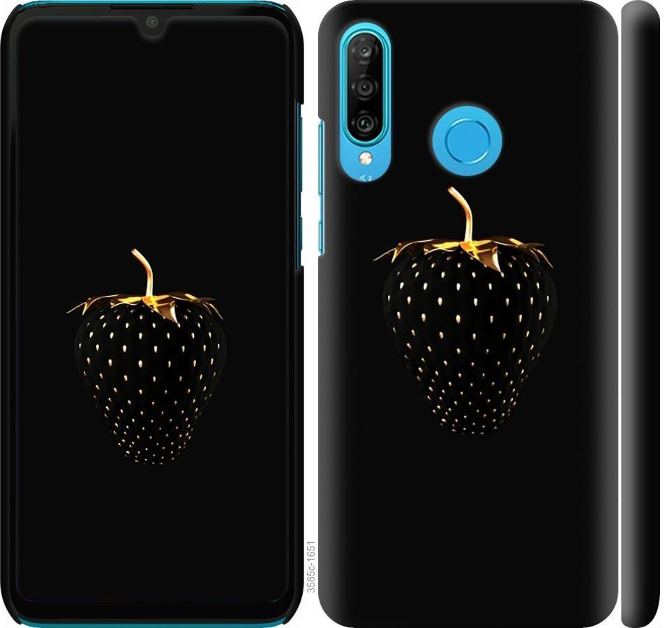 Чохол на Huawei P30 Lite  Чорна полуниця