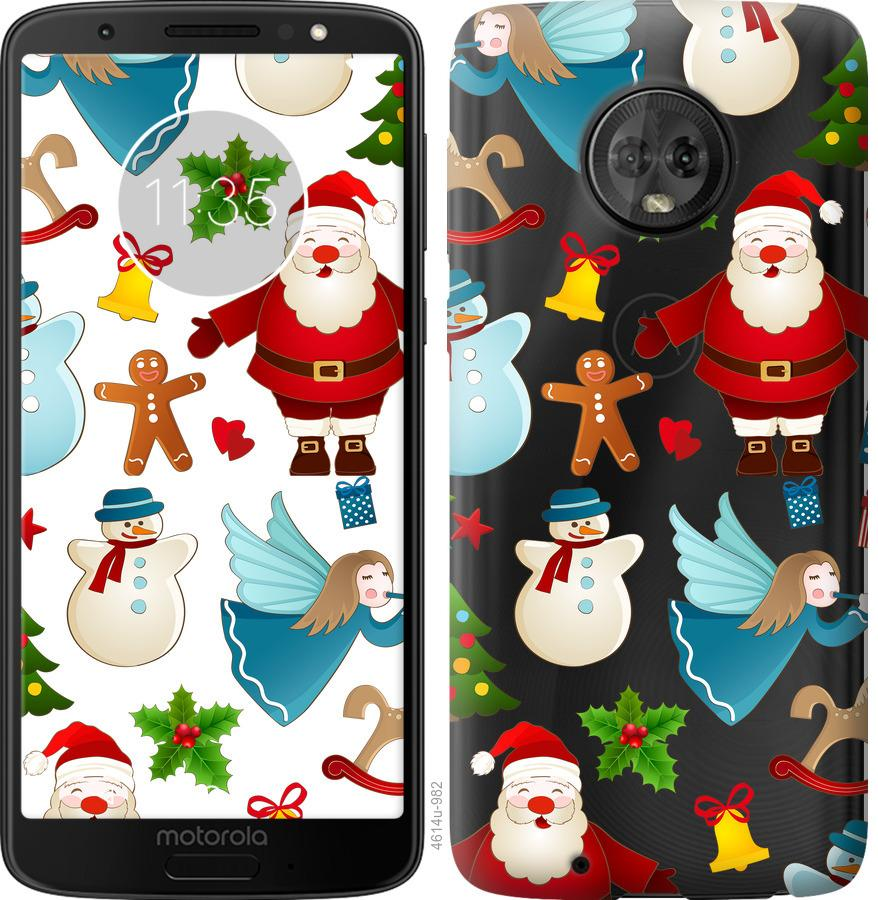 Чехол на Motorola Moto G6 Новогодний 1