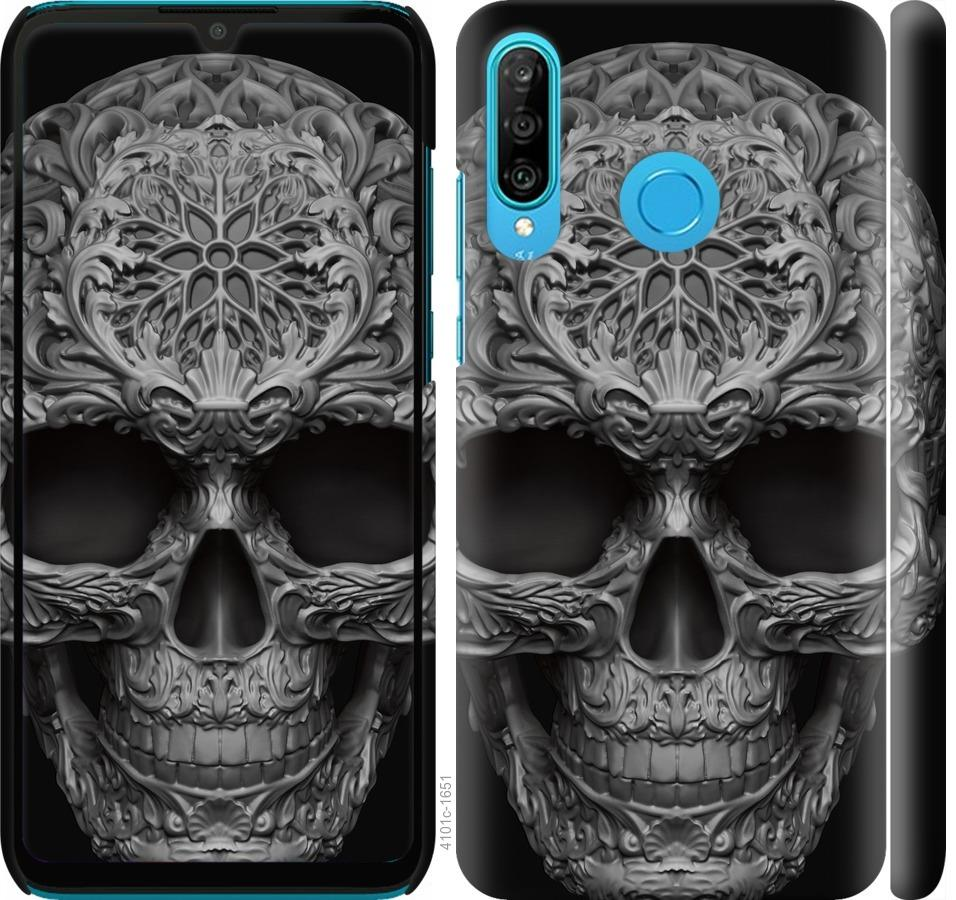Чехол на Huawei P30 Lite skull-ornament