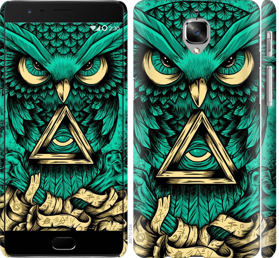 Чехол на OnePlus 3T Сова Арт-тату