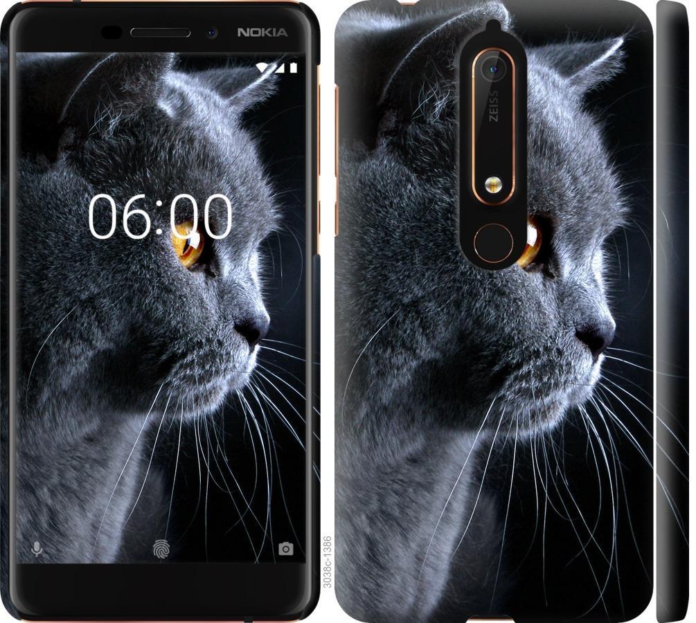 Чехол на Nokia 6 2018 Красивый кот