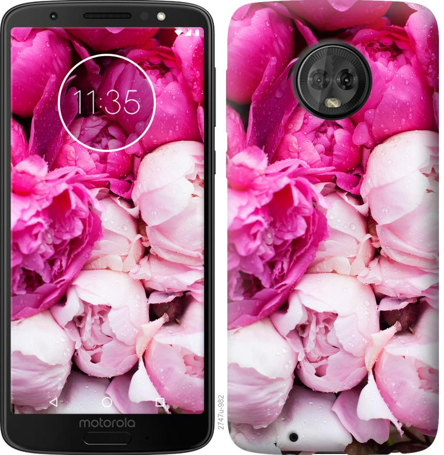 Чохол на Motorola Moto G6 Рожеві півонії